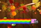 Fruit Ninja vs. Nyan Cat